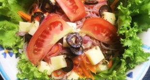 Vegetable Salad with Olive and Cheese